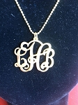 Gold Monogrammed Necklaces