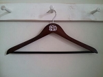 Wooden Monogram Hanger {OR Set of 5 decals}