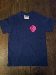 Ladies Short Sleeve Vinyl Monogrammed TShirt (front monogram)