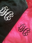 Ladies Short Sleeve Embroidered Monogram T-Shirt