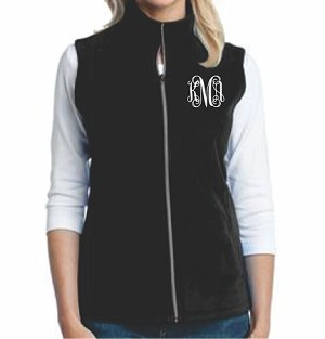 Monogrammed Fleece Vest (Ladies)