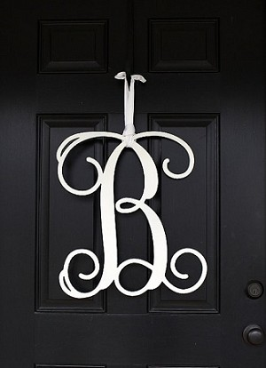 Front Door 22 Inch Tall Single Letter Monogram