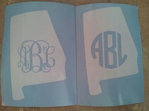 Vinyl Decal- State Monograms